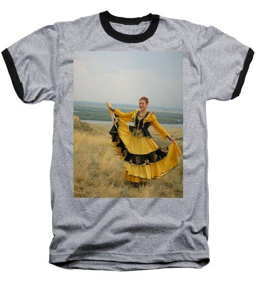 Cossack Young Woman Baseball T-Shirt