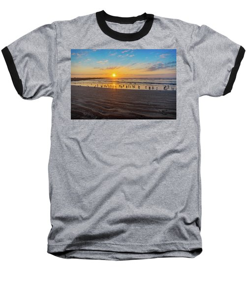 Coastal Sunrise Baseball T-Shirt