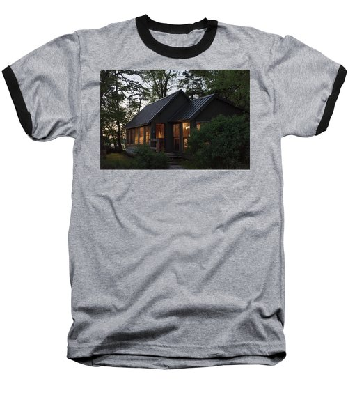 Baseball T-Shirt featuring the photograph Cosy Cabin In The Woods by Gary Eason