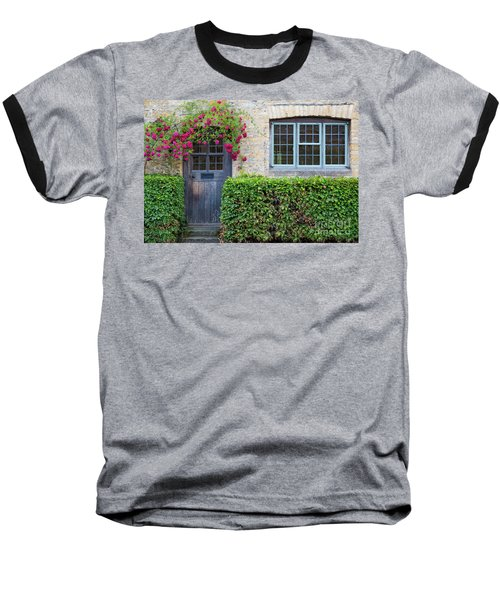 Baseball T-Shirt featuring the photograph Cotswolds Cottage Home by Brian Jannsen