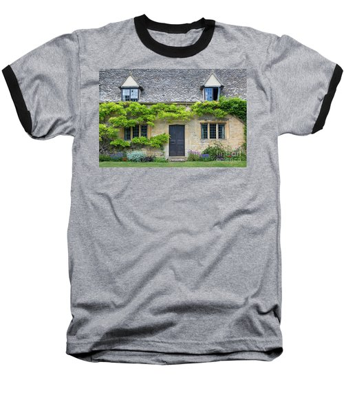 Baseball T-Shirt featuring the photograph Cotswolds Cottage Home II by Brian Jannsen