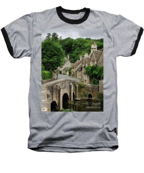 Cotswolds Village Castle Combe Baseball T-Shirt by IPics Photography