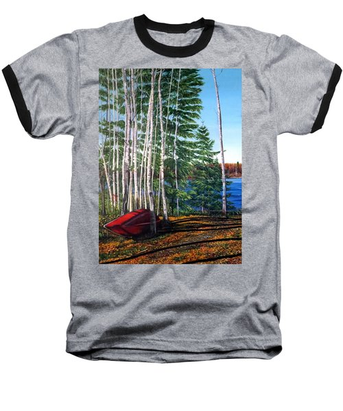 Cottage Country Baseball T-Shirt by Marilyn McNish