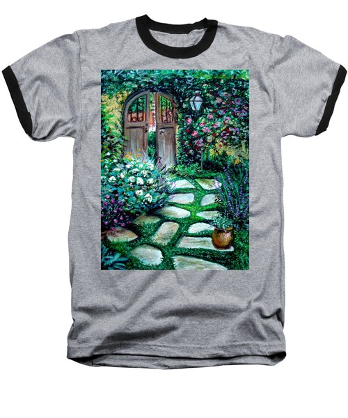 Cottage Gates Baseball T-Shirt
