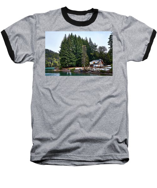 Little Cottage And Pines In The Argentine Patagonia Baseball T-Shirt