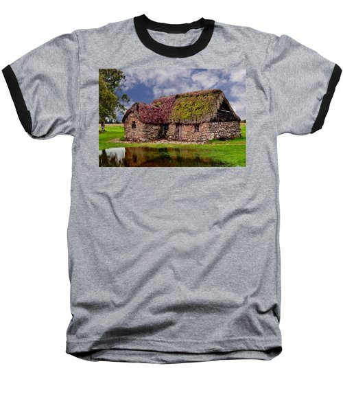Cottage In The Highlands Baseball T-Shirt by Anthony Dezenzio