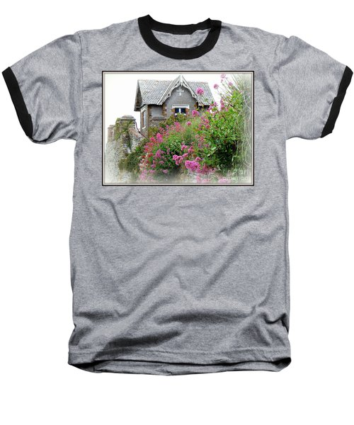 Cottage On The Hill Baseball T-Shirt by Anne Gordon