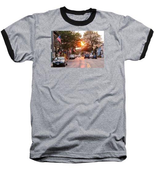 Cottage Street Summer Sunset Baseball T-Shirt