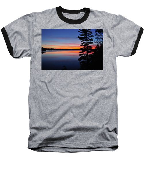 Cottage Sunset Baseball T-Shirt by Keith Armstrong