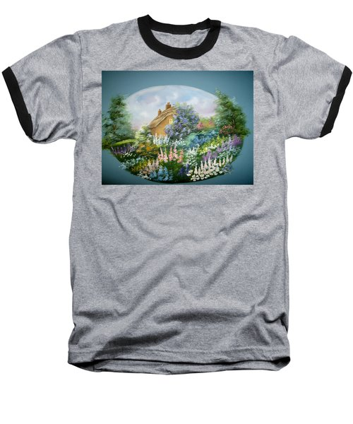 Cottage Vignette Baseball T-Shirt