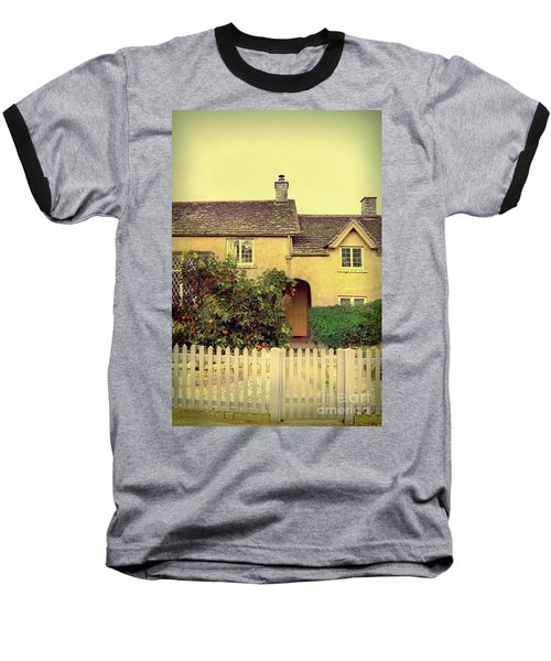 Cottage With A Picket Fence Baseball T-Shirt by Jill Battaglia