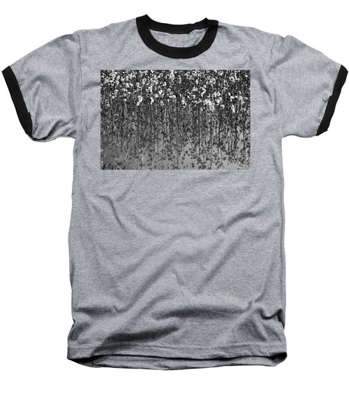 Cotton Abstract In Black And White Baseball T-Shirt