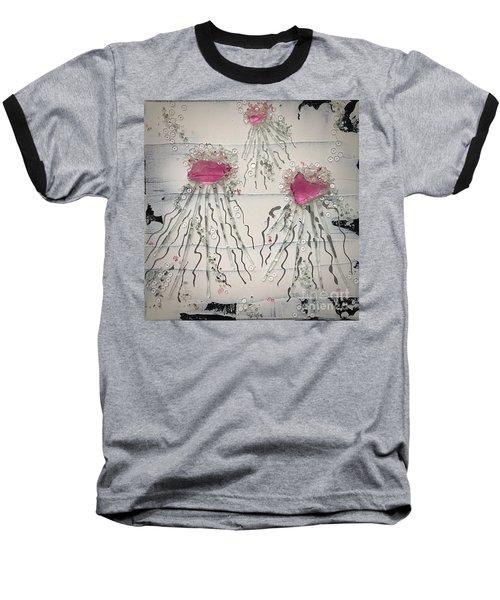 Cotton Candy Jelly-fish Baseball T-Shirt