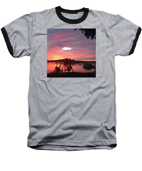 Baseball T-Shirt featuring the photograph Cotton Candy Sunset by Rebecca Wood