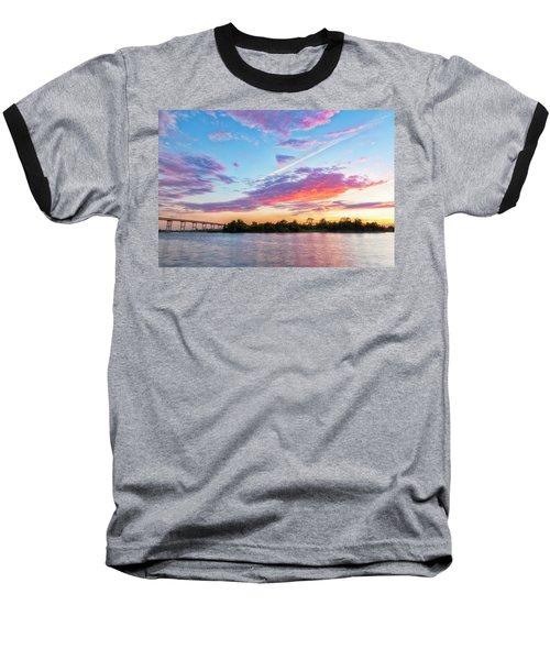 Cotton Candy Sunset Baseball T-Shirt