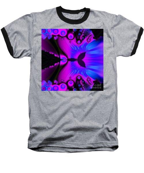 Cotton Candyland Fractal Baseball T-Shirt