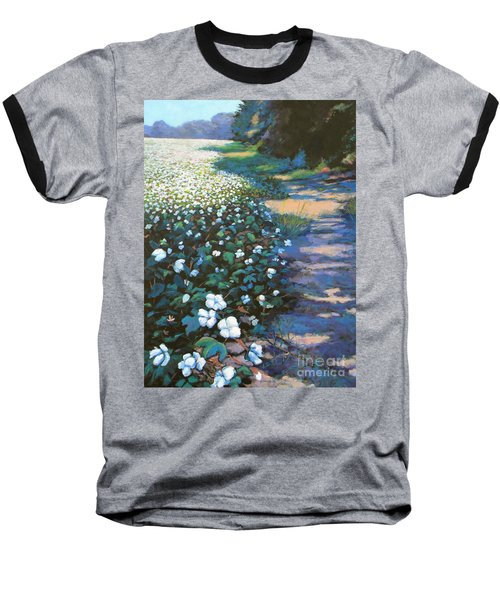 Cotton Field Baseball T-Shirt by Jeanette Jarmon