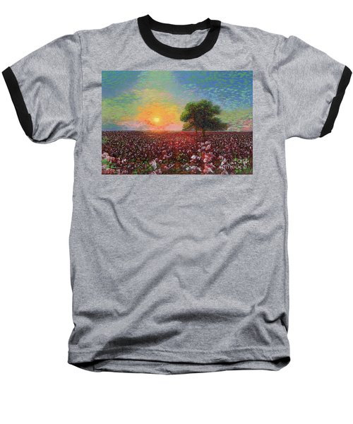 Cotton Field Sunset Baseball T-Shirt