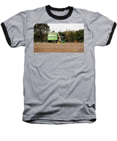 Cotton Picker Baseball T-Shirt by Donna Brown
