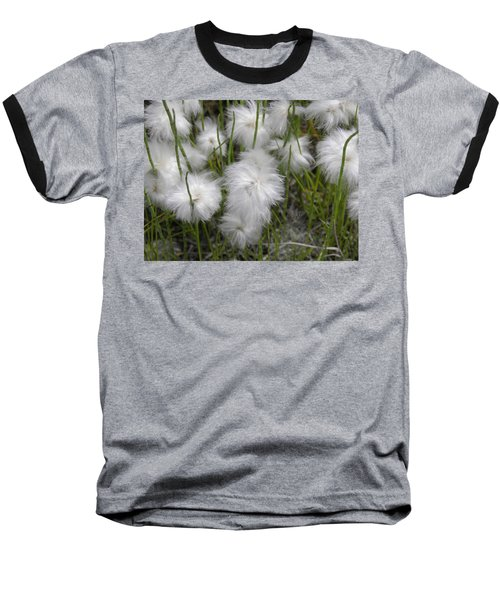 Baseball T-Shirt featuring the photograph Cottongrass by Fran Riley