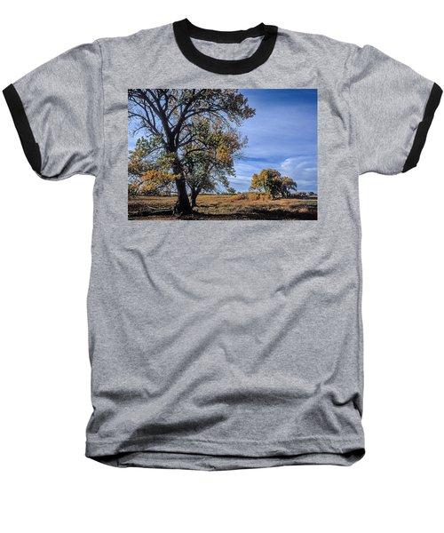 Cottonwood #5 Fall Ranch Colorado Blue Sky Baseball T-Shirt