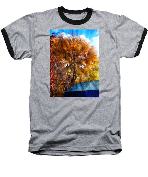 Cottonwood Conversations With Cobalt Sky  Baseball T-Shirt by Anastasia Savage Ealy
