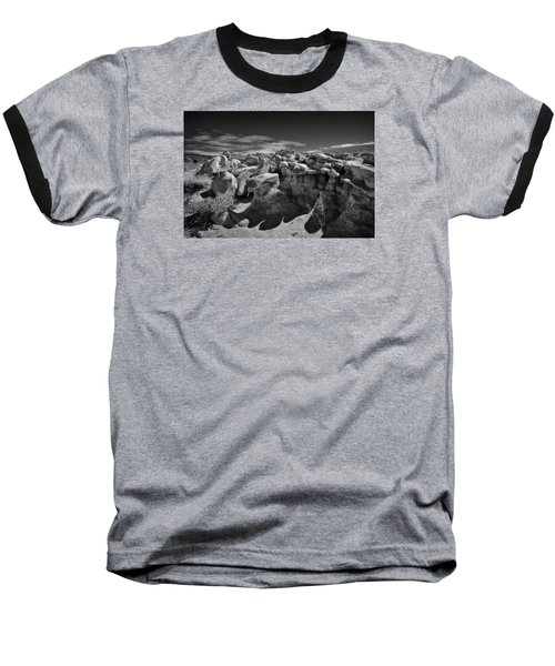 Cottonwood Creek Strange Rocks 2 Bw Baseball T-Shirt