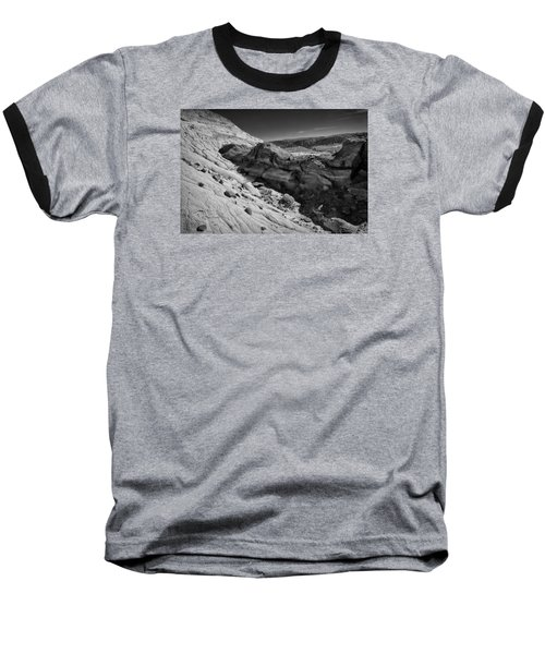 Cottonwood Creek Strange Rocks 7 Bw Baseball T-Shirt