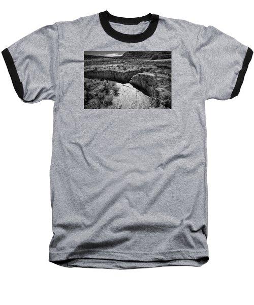 Cottonwood Creek Water Drainage 1 Bw Baseball T-Shirt