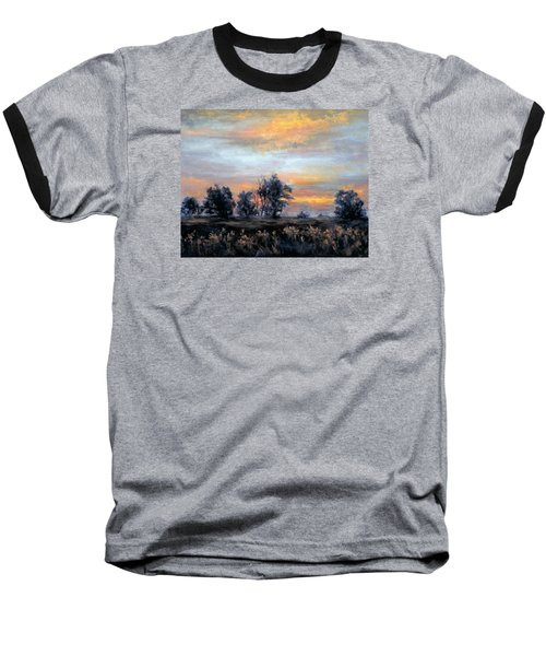 Cottonwoods At Sunset Baseball T-Shirt