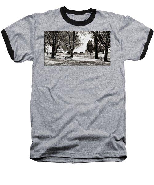 Couchiching Park In Pencil Baseball T-Shirt