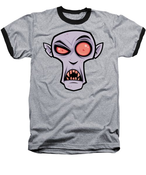Count Dracula Baseball T-Shirt by John Schwegel