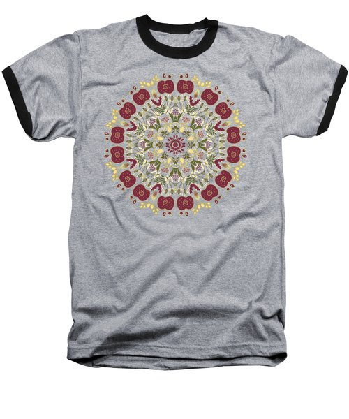 Country Apple Kaleidoscope Pattern Baseball T-Shirt