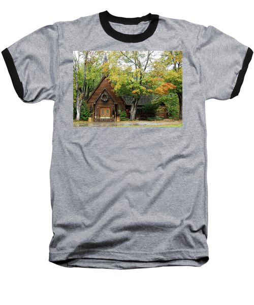 Country Chapel Baseball T-Shirt by Jerry Battle