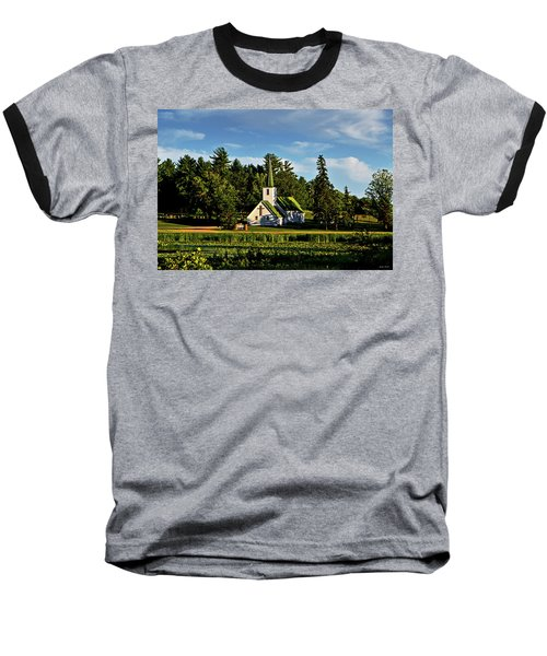 Country Church 003 Baseball T-Shirt by George Bostian