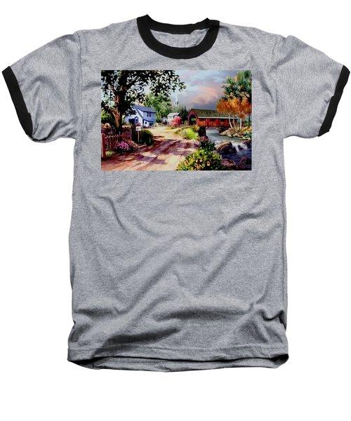 Country Covered Bridge Baseball T-Shirt