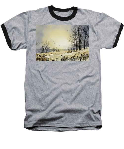 Baseball T-Shirt featuring the painting Country Dawn by James Williamson
