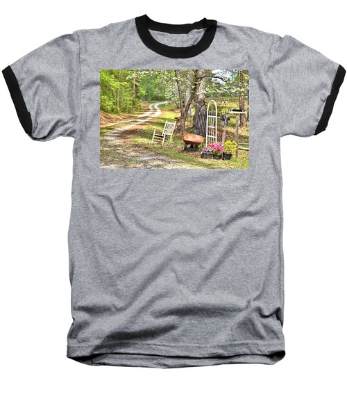 Country Driveway In Springtime Baseball T-Shirt