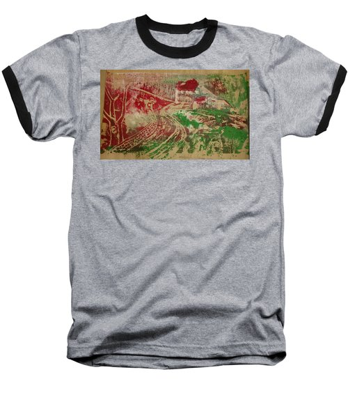 Country Home With Cottage Baseball T-Shirt
