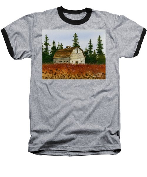 Baseball T-Shirt featuring the painting Country Landscape by James Williamson