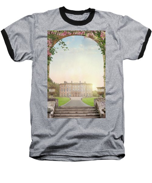Country Mansion At Sunset Baseball T-Shirt by Lee Avison