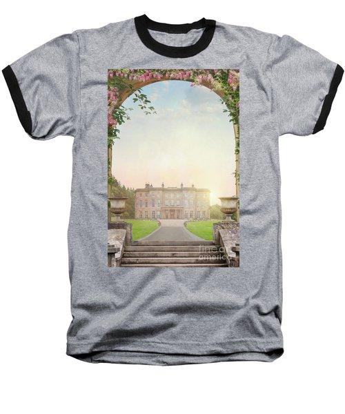 Country Mansion At Sunset Baseball T-Shirt