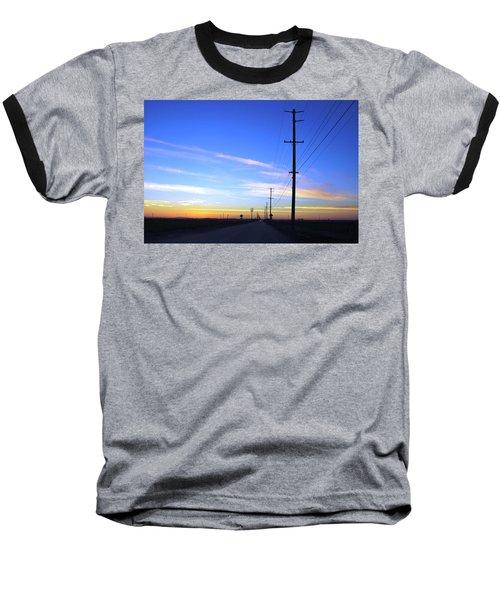 Baseball T-Shirt featuring the photograph Country Open Road Sunset - Blue Sky by Matt Harang