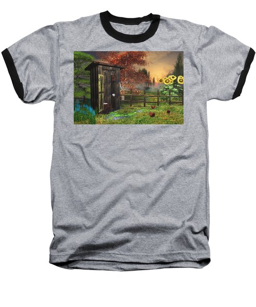Country Outhouse Baseball T-Shirt