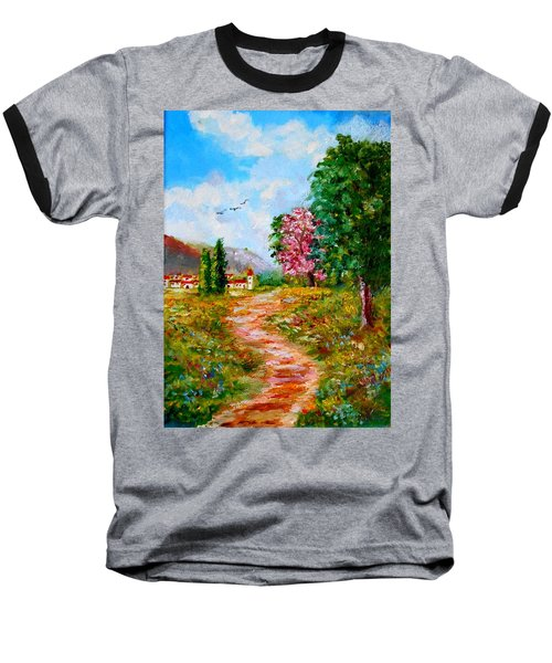 Country Pathway In Greece Baseball T-Shirt