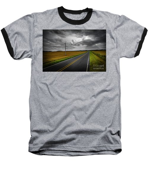 Baseball T-Shirt featuring the photograph Country Road by Brian Jones
