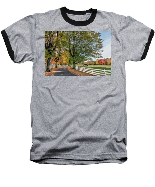 Country Road In Rural Maryland During Autumn Baseball T-Shirt
