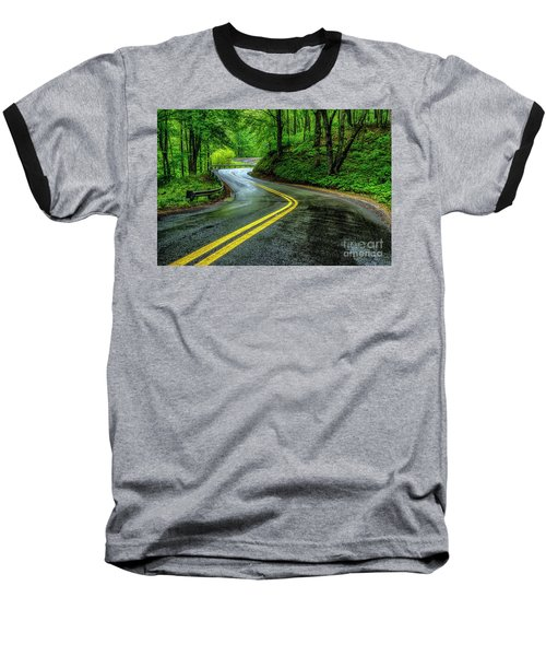 Country Road In Spring Rain Baseball T-Shirt
