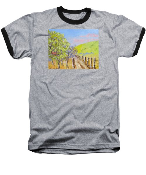 Country Road Pallet Knife Baseball T-Shirt by Lisa Boyd