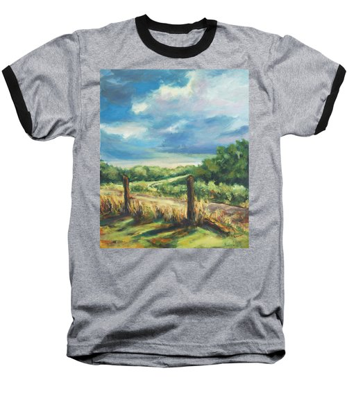 Country Road Baseball T-Shirt by Rick Nederlof